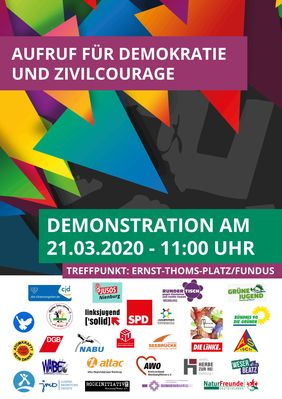 Demo am 21.03.2020 um 11.00 Uhr am Ernst-Thomas-Platz in Nienburg